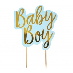 "Topper, toper na tort Baby Shower ""Pattern Works - Baby Boy"""