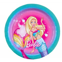8 Okrągłe Talerze Barbie