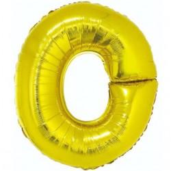 32 Cali Balon Alfabet O Złota