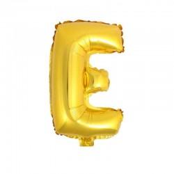 32 Cali Balon Alfabet E Złota