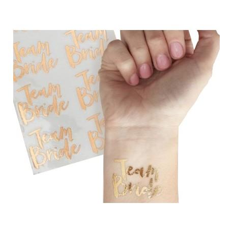 Tatuaże TEAM BRIDE na wieczór panieński (8szt)
