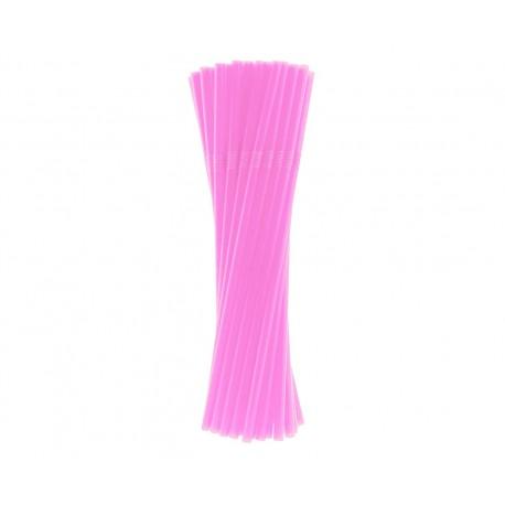 Słomki łamane, różowe, 5x210 mm / 40 szt.