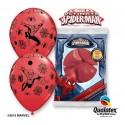 """Balony gumowe 12"""" z nadr. Spider Man, pastel mix specjalny / 6 szt."""