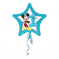 """Balon foliowy """"Cyfra 1"""" """"Mickey 1st Birthday"""" 18"""""""
