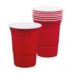 """Kubki plastikowe czerwone """"American"""" 400ml , 6 szt."""