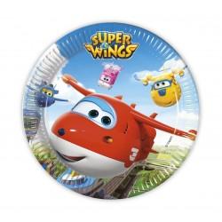 Talerzyki papierowe Super Wings, 8szt. 23cm