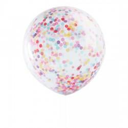 """Balon przezroczysty z konfetti 18"""""""