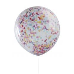 """Balon przezroczysty z konfetti 36"""""""