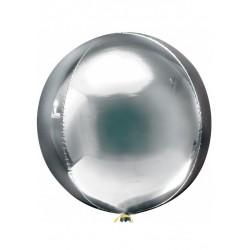Balon foliowy kula srebrny 60 cm