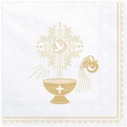 Serwetki na chrzest złote