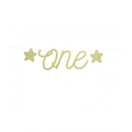 Baner 1st Birthday - One, 12x50cm