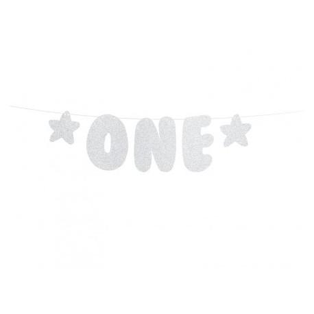 Baner 1st Birthday - One, 11,5x50cm
