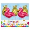 Świeczki pikery Flamingi i Ananasy, 5 szt.