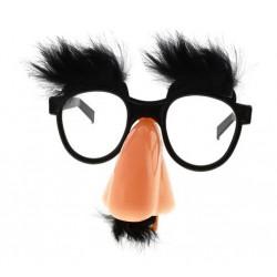 Okulary z nosem i wąsami, czarne