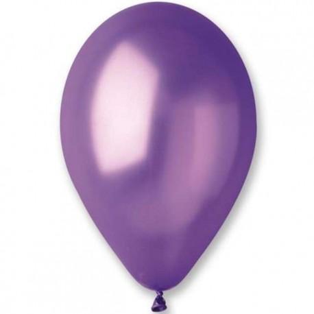 "Balon gumowy 14"" metallic purple"