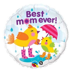"Balon foliowy 18""  ""Best mom ever"""