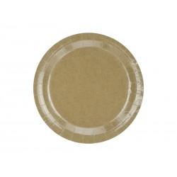 Talerzyki okrągłe, kraft, 23 cm (1 op. / 6 szt.)