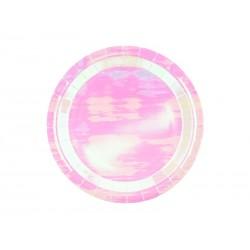 Talerzyki okrągłe, opalizujący, 18cm (1 op. / 6 szt.)