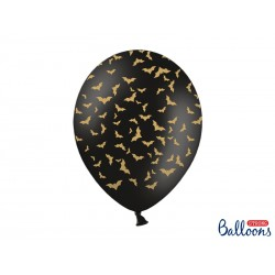 """Balon gumowy 14"""" 30cm Nietoperze , czarny"""