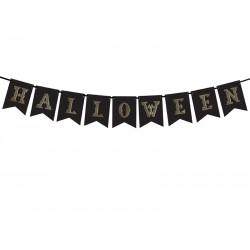 Baner Hallowen, czarny 175cm
