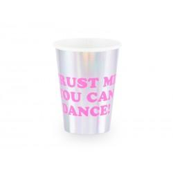 Kubeczki Trust me you can dance holograficzny, 360 ml