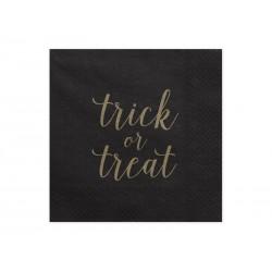 Serwetki Trick or treat, czarny, 33x33cm 20 szt.