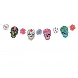 Girlanda Dia de Los Muertos - Maski, 1,2m