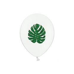 """Balon gumowy 14"""" Aloha liście, białe"""