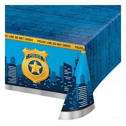 Obrus plastikowy, Police Party, 137 x 259 cm