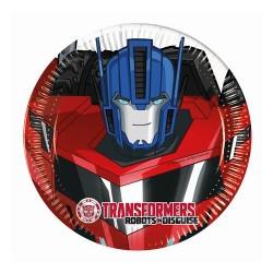 Talerzyki papierowe Transformers Power, 20/ 8 szt