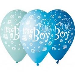 """Balony gumowe Its a Boy, 12"""" / 5 szt"""