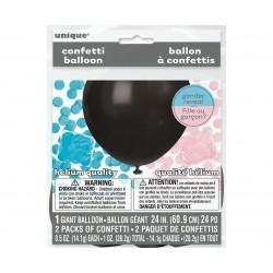 Zestaw na babyshower Poznajemy Płeć Dziecka (balon, 2x konfetti)