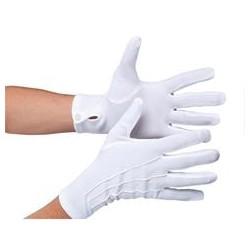 Rękawiczki białe z guziczkiem