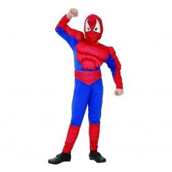 Strój dla dzieci Pajęczy bohater z muskułami, rozm.