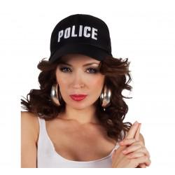Czapka z daszkiem POLICJA, czarna