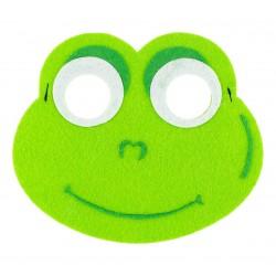 Maska filcowa ŻABKI dla dzieci