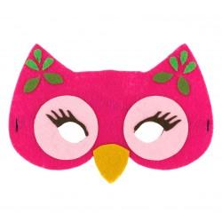 Maska filcowa RÓŻOWEJ SÓWKI dla dzieci