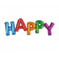 Balon foliowy, napis Happy