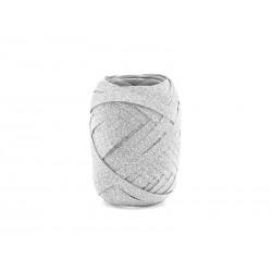Wstążka plastikowa, srebrny,