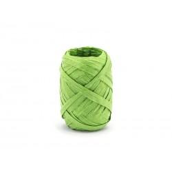 Wstążka rafia, 5mm/10m, zielony