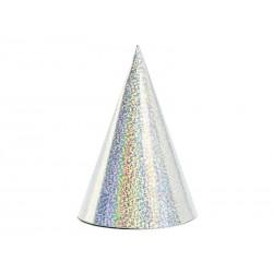 Czapeczki holograficzne, srebrny, 10cm