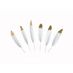 Piórka dekoracyjne, biały, 10-16cm