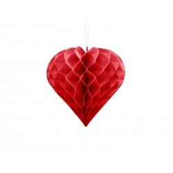 Serce bibułowe, czerwony, 20cm