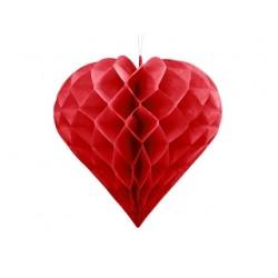 Serce bibułowe, czerwony, 30cm
