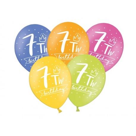 Balony 30cm, 7th! birthday,1szt.
