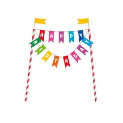 "Dekoracja na tort ""Happy Birthday"""