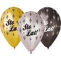 """Balony Premium """"Sto Lat"""", metaliczne, 12"""""""
