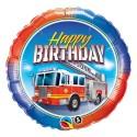 "Balon foliowy 18 ""Birthday Fire Truck (happy birthday)"""