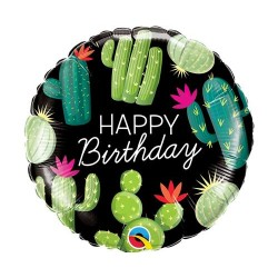 "Balon foliowy 18"" HAPPY BIRTHDAY CACTUSES"