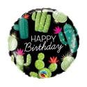"Balon foliowy 18"" HAPPY BIRTHDAY CACTUSES"
